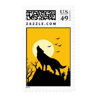 wolf howl 2 postage stamps