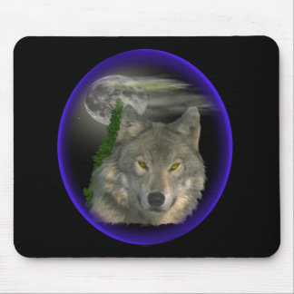 Wolf howl at night mouse pad