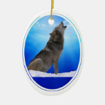Wolf Howl Blank Ornament