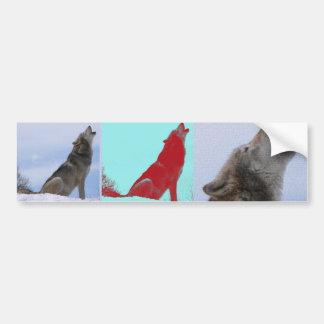 Wolf Howl Car Bumper Sticker