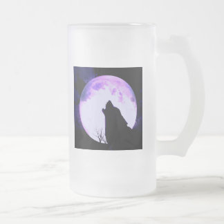 Wolf Howl Frosted Beer Mug