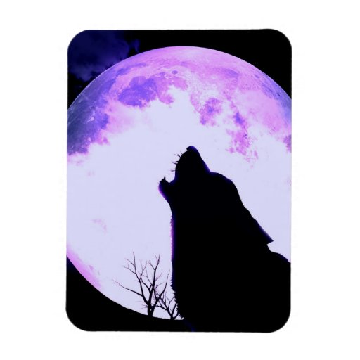 Wolf Howl Premium Magnet Rectangle Magnets