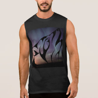 Wolf Howl Sky Night Northern Lights Animals Wild Sleeveless T-shirt