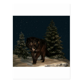 Wolf Howl Snow Winter Tree Forest Destiny Outdoors Post Card