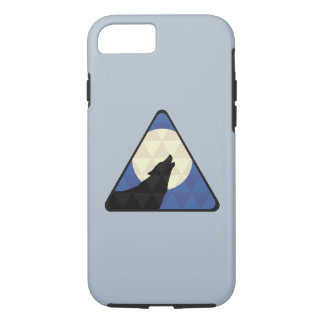 Wolf Howling At Big Moon With Triangle Design iPhone 7 Case