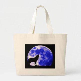 Wolf Howling at Moon Tote Bag
