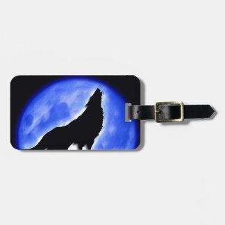 Wolf Howling at Moon Bag Tag