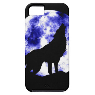 Wolf Howling at Moon iPhone 5 Covers