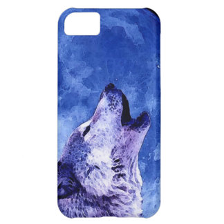 Wolf Howling at Moon iPhone 5C Cases