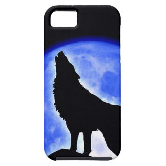 Wolf Howling at Moon iPhone 5 Cases