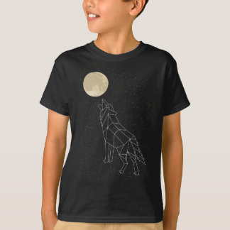 Wolf Howling At Moon Constellation T-Shirt