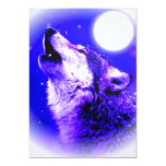 "Wolf Howling at Moon Invitation 5"" X 7"" Invitation Card"