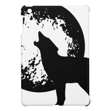 Beach Themed Wolf Howling at Moon iPad Mini Cases