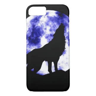 Wolf Howling at Moon iPhone 7 Case