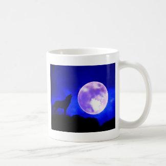 Wolf Howling at Moon Mug