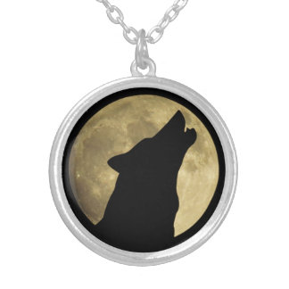 Wolf Howling at Moon Necklaces