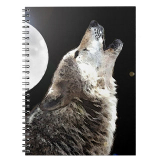 Wolf Howling at Moon Notebook