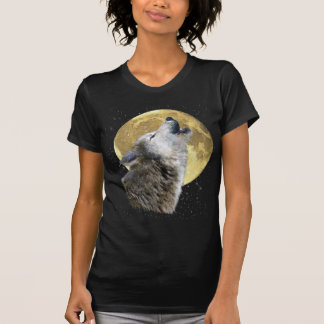 Wolf Howling at Moon Snow Winter Wildlife Shirt