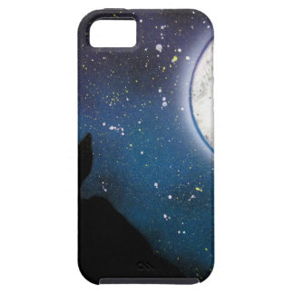 Wolf Howling at Moon Spray Paint Art Painting iPhone SE/5/5s Case