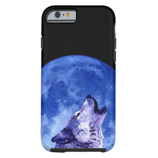 Wolf Howling at Moon Tough iPhone 6 Case