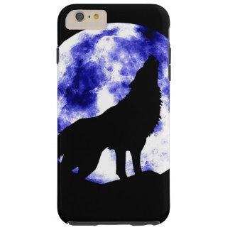 Wolf Howling at Moon Tough iPhone 6 Plus Case