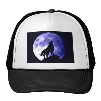 Wolf Howling at Moon Trucker Hat