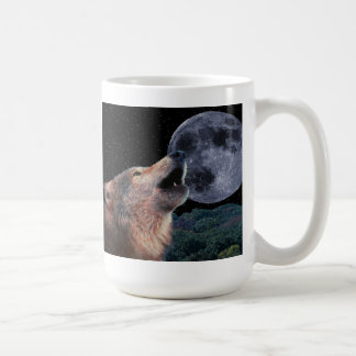 Wolf Howling at the Full Moon - Multi-Products-02 Coffee Mug