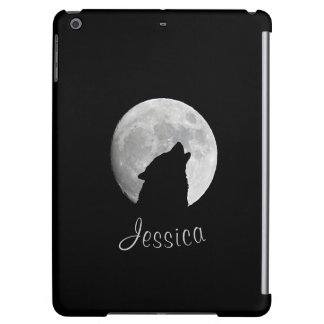 Wolf Howling at The Full Moon, Your Name iPad Air Case