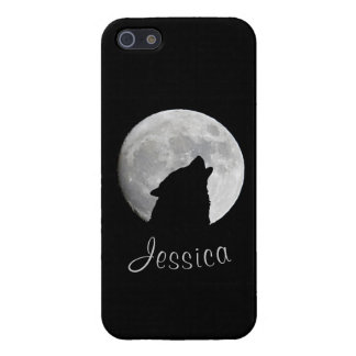 Wolf Howling at The Full Moon, Your Name iPhone SE/5/5s Case