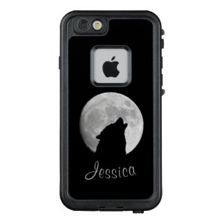 Wolf Howling at The Full Moon, Your Name LifeProof FRĒ iPhone 6/6s Case