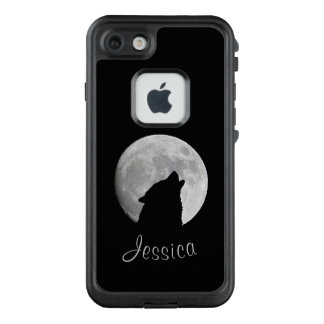 Wolf Howling at The Full Moon, Your Name LifeProof FRĒ iPhone 7 Case