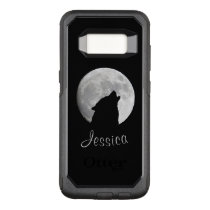 Wolf Howling at The Full Moon, Your Name OtterBox Commuter Samsung Galaxy S8 Case