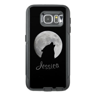 Wolf Howling at The Full Moon, Your Name OtterBox Samsung Galaxy S6 Case