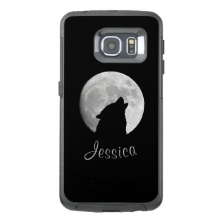 Wolf Howling at The Full Moon, Your Name OtterBox Samsung Galaxy S6 Edge Case