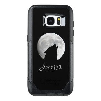 Wolf Howling at The Full Moon, Your Name OtterBox Samsung Galaxy S7 Edge Case