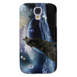 Wolf howling at the moon galaxy s4 cover