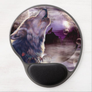 Wolf Howling at The Moon Gel Mouse Pad