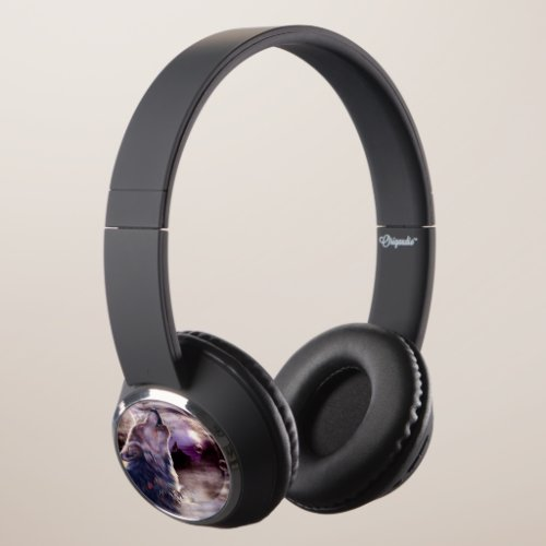 Wolf Howling at The Moon Headphones