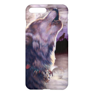 Wolf Howling at The Moon iPhone 7 Plus Case