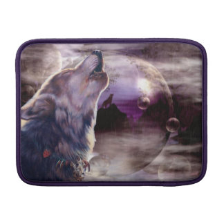 Wolf Howling at The Moon MacBook Air Sleeve