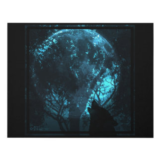 Wolf Howling At The Moon Panel Wall Art