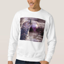 Wolf Howling at The Moon Sweatshirt