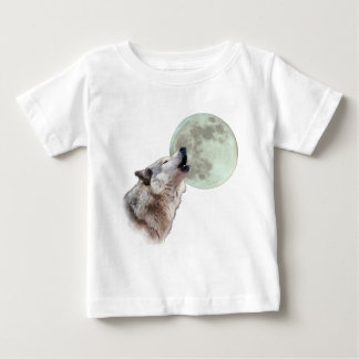 Wolf Howling Baby T-Shirt