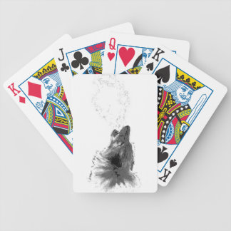 Wolf Howling Bicycle Playing Cards