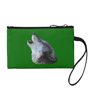 wolf howling change purse