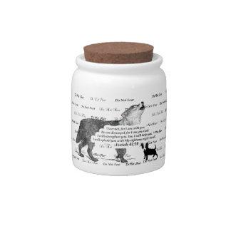 Wolf Howling Chihuahua Do Not Fear #5 FaithTrust B Candy Dish