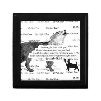 Wolf Howling Chihuahua Do Not Fear #5 FaithTrust B Gift Box