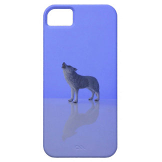 Wolf howling in beautiful arctic night iPhone SE/5/5s case