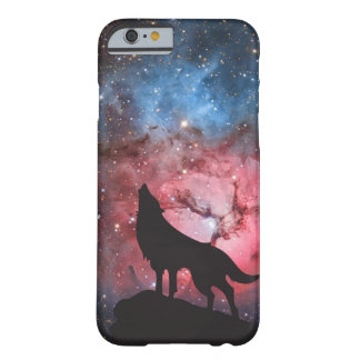 Wolf Howling in Galaxy Barely There iPhone 6 Case
