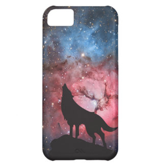 Wolf Howling in Galaxy Cover For iPhone 5C